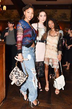Chloe Bailey, Rowan Blanchard in Coach & Rodarte, and Halle Bailey Selma Blair, Sabrina Carpenter, Chloe Halle, Sasha Lane, Chic Outfits, Fashion Outfits, Rowan Blanchard, Celebs, Celebrities