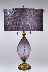 Beautiful purple lamp by Caryn and Susan Kinzig.  Their lamps are exquisite!