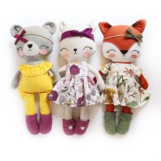 Baby animals in clothes sweets 53 ideas for 2019 Doll Crafts, Cute Crafts, Diy Doll, Tilda Toy, Handmade Stuffed Animals, Fabric Animals, Fabric Toys, Creation Couture, Sewing Dolls