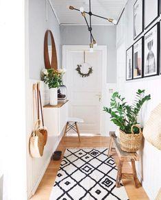 The most beautiful ideas with the IKEA BESTA for your hallway! - IKEA Besta – Ideen für dein Wohnzimmer, Flur & Co. Diy Furniture Videos, Diy Furniture Table, Furniture Ideas, Decoration Hall, Hallway Walls, Hallway Ideas, Corridor Ideas, Entry Hallway, Flur Design