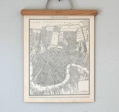 1930s New Orleans, Louisiana Antique City Map