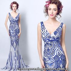 Cheap evening dress, Buy Quality evening dress fashion directly from China evening fashion dresses Suppliers: YIDINGZS Robe De Soiree Slim Mermaid Royal Blue V Neck Sequined Long Evening Dresses Fashion Prom Party Dresses Royal Blue Prom Dresses, Prom Party Dresses, Party Gowns, Dress Party, Cocktail Dresses Australia, Evening Dresses Australia, Mermaid Evening Dresses, Evening Gowns, Lush