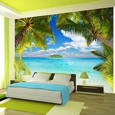 Beautiful Nature Wallpaper Design Ideas For Bedroom 39 Ceiling Murals, 3d Wall Murals, Floor Murals, Bedroom Murals, Bedroom Decor, Wall Decor, Mural Art, Room Wallpaper, Photo Wallpaper