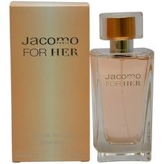 JacomoForHer http://www.perfumes.com/jacomo-for-her-jacomo-women-3-4-oz/ Your Price: $27.40 (Retail Price: $58.00, 53% OFF) Launched in 2005, this chypre floral has notes of bergamot, lily-of-the-valley, hyacinth, heliotrope, ylang-ylang, rose, sandalwood, tonka bean, amber, patchouli, vetiver and cedar.
