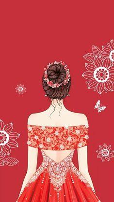 New wall paper desenho aquarela 64 Ideas Fashion Illustration Dresses, Illustration Girl, Lovely Girl Image, Girls Image, Cute Girl Drawing, Girly Drawings, Cute Girl Wallpaper, Fashion Design Sketches, Beautiful Anime Girl