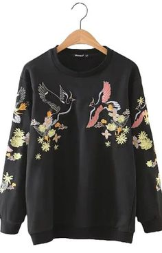 Specifications: Item Type:Hoodies,Sweatshirts Clothing Length:Regular Fabric Type:Broadcloth Hooded:No Collar:O-Neck Sleeve Length:Full Pattern Type:Floral Sleeve Style:Regular Style:Casual Type:Pullo