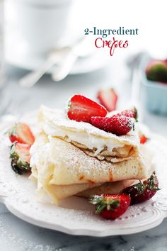 2-Ingredient Crepes {Macedonian-Style Crepes}