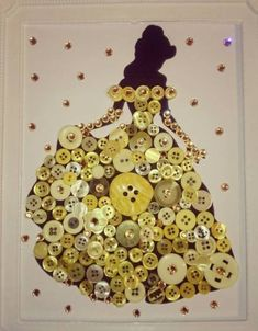 25 + craft ideas button painting -Relaxwoman 25 + craft ideas button painting -Relaxwoman<br> There are so many button crafts for kids result in charming, handmade and gift-worthy items! Learn how to make button art on canvas! Button Art Projects, Button Crafts For Kids, Craft Projects, Craft Ideas, Crafts With Buttons, Disney Diy Crafts, Fun Crafts, Diy And Crafts, Arts And Crafts