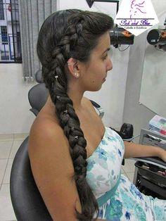 Trança lateral #penteado #trança