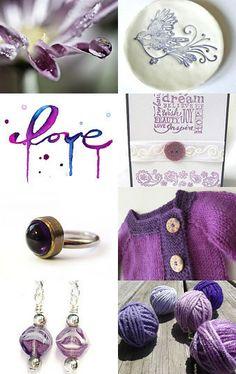 Hints of Purple by Paula on Etsy--Pinned with TreasuryPin.com