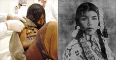 A mummy Inca Girl, named Juanita La Doncella was sacrificed and frozen in sleep in Argentina. Breastfeeding In Public, Native American Pictures, Shocking News, Pin Pics, Cryptozoology, Weird Facts, Dark Side, Preserves, Frozen