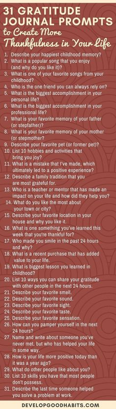 These 31 Gratitude Journal Prompts can help you start practicing gratitude. Turn it into a daily habit by committing to daily gratitude journaling. Gratitude Journal Prompts, Daily Journal, Journal Questions, Journal Inspiration, Journal Ideas, Motivation, Coping Skills, Self Improvement, Self Help
