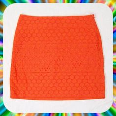 "BANANA REPUBLIC Orange Eyelet Lace Mini Skirt Sz 6 Super cute eyelet lace mini skirt in a vibrant orange color with side zip closure. Lined. 100% Cotton. Looks Like New! Size 6 or Small for a 31"" waist. Length: 17"".       💐Bundle 2 or More Items to Save 15% Off Automatically!💐 Banana Republic Skirts Mini"