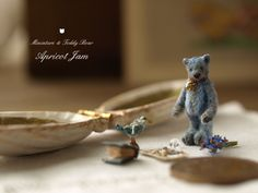 Miniature bear with accessories by Apricot Jam So sweet.