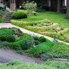 Sloping-landscaping design