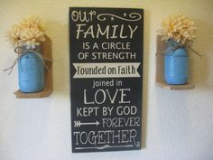 Wood SignWall DecorFamily SignOur by PattisCtryWoodcraft on Etsy