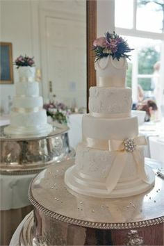 Lace wedding cake - Melissa Woodland Cakes