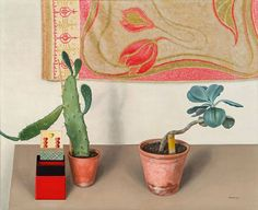 Still Life with Potted Plants by Rudolph Wacker, 1931.