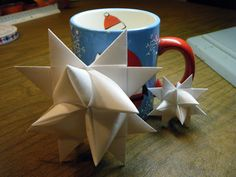 What About Pie: Make a German Paper Star to hang on your Christmas tree!