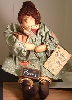 Attic Babies Doll Teacher Prudence by Marty Maschino 1989