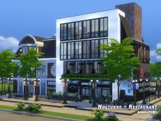 Nocturne restaurant by Danuta720 at TSR via Sims 4 Updates