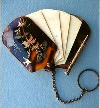 Carnet de bal (dance card): tortoiseshell, gold, and ivory.
