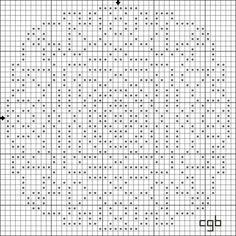 Free Rose Window Counted Cross Stitch Pattern - Free Printable Chart
