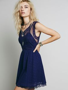 Free People Victoria Mini Dress in plum combo at Free People Clothing Boutique
