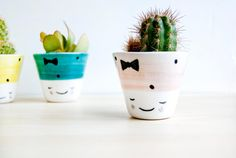 Ceramic small plant pot Ceramic planter Succulent by noemarin