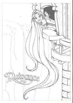 Rapunzel Coloring Pages, Disney Princess Coloring Pages, Disney Princess Colors, Fairy Coloring Pages, Adult Coloring Pages, Coloring Sheets, Coloring Books, Colorful Drawings, Colorful Pictures