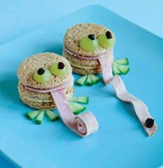Cute little sandwiches for kids