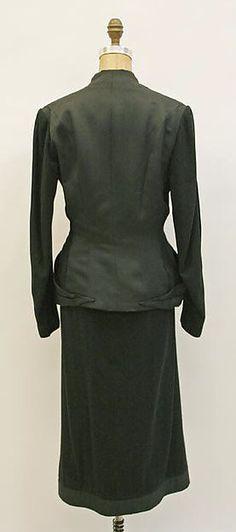 Suit Designer: Charles James (American, born Great Britain, 1906–1978) Date: 1946 Culture: American Medium: wool, silk