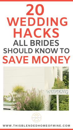 20 Wedding Hacks Every Bride Should Know to Save Money - This Blended Home of Mine - Save money on your wedding day with these wedding hacks - June 15 2019 at Wedding Planning Tips, Budget Wedding, Wedding Tips, Event Planning, Wedding Events, Destination Wedding, Wedding Day, Dream Wedding, Budget Bride