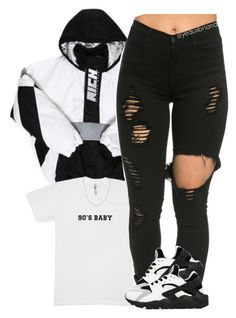 """""""•"""" by yeauxbriana ❤ liked on Polyvore featuring Off-White, NIKE and Fremada"""