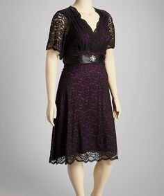 Purple Lace Retro Glam Dress - Plus | Daily deals for moms, babies and kids