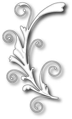 Karten-Kunst - Stempel- und Scrapbook-Shop - Memory Box Stanzschablone - Gwyneth Flourish
