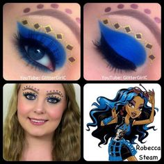 Monster High Robecca Steam Makeup. Youtube channel: full.sc/SK3bIA