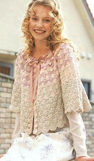 Croche e Outros Fricotes: Casaquinho Delicado