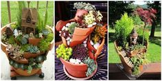DIY Broken Clay Pot Fairy Garden Ideas and Instrutions
