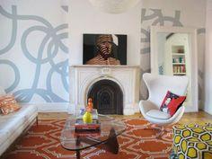 Painted 'carpet' inspiration...