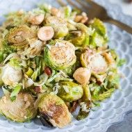 Brussels Sprouts Salad with Hazelnuts, Parmesan, and Pomegranate-Molasses Vinaigrette
