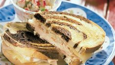This Reuben sandwich recipe makes enough for one sandwich, including the Russian dressing. Just scale it up to make more sandwiches, and any extra dressing will keep in the fridge. Reuben Sandwich, Sandwich Recipes, Alton Brown, Turkey Sandwiches, Wrap Sandwiches, Turkey Reuben, Reuben Recipe, Reuben Casserole, Cranberry Relish