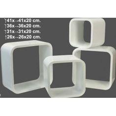 Estantería cubos blanco