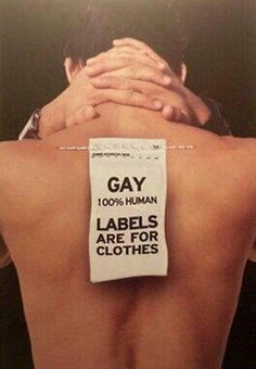 Inspiration 2 : Labels are for clothes not for human