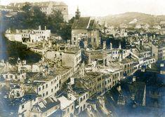01_poziar_a Bratislava, Teaching History, Old Photos, Paris Skyline, Nostalgia, City, Travel, Times, German