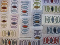 Runner, Reverse Applique, Contemporary Embroidery, Fibre Art, Arts Ed, Textile Artists, Printmaking, Vases, Stencils