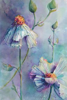 Watercolor Artist Cathy Quiel - Watercolor paintings, videos, workshops, lessons and giclees. Watercolor Projects, Watercolor Artists, Watercolor Illustration, Watercolour Painting, Painting & Drawing, Watercolours, Abstract Flowers, Watercolor Flowers, Art Themes