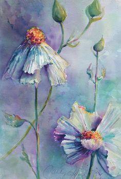 Cathy Quiel Watercolor Paintings - Floral