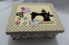 Le plus récent Pic Patchwork embutido Populaire Fabric Crafts, Paper Crafts, Sewing Caddy, Creative Box, Table Runner And Placemats, Vintage Box, Keepsake Boxes, Quilting Designs, Painting On Wood