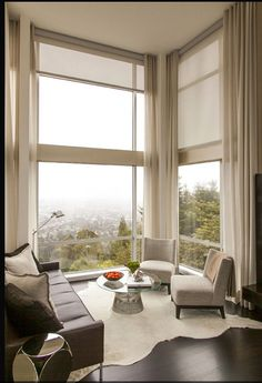 Blinds AND Curtains - possibly something like this in Bed 1 with glass return